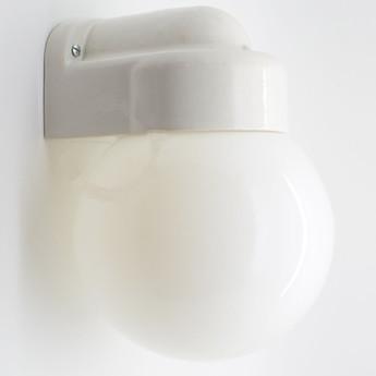 Applique murale de salle de bain lampe etanche porcelaine blanc l20cm h12 5cm zangra normal