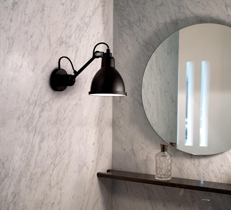 Lampe gras bathroom bernard albin gras applique murale de salle de bain wall light bathroom  dcw editions  304 bathroom bl sat black  design signed nedgis 117218 product