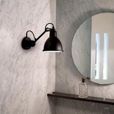 Lampe gras bathroom bernard albin gras applique murale de salle de bain wall light bathroom  dcw editions  304 bathroom bl sat black  design signed nedgis 117218 thumb