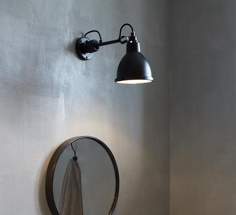 Lampe gras bathroom bernard albin gras applique murale de salle de bain wall light bathroom  dcw editions  304 bathroom bl sat black  design signed nedgis 117220 product
