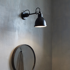 Lampe gras bathroom bernard albin gras applique murale de salle de bain wall light bathroom  dcw editions  304 bathroom bl sat black  design signed nedgis 117220 thumb