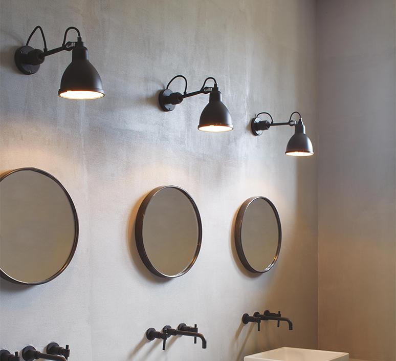 Lampe gras bathroom bernard albin gras applique murale de salle de bain wall light bathroom  dcw editions  304 bathroom bl sat black  design signed nedgis 117221 product