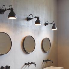 Lampe gras bathroom bernard albin gras applique murale de salle de bain wall light bathroom  dcw editions  304 bathroom bl sat black  design signed nedgis 117221 thumb