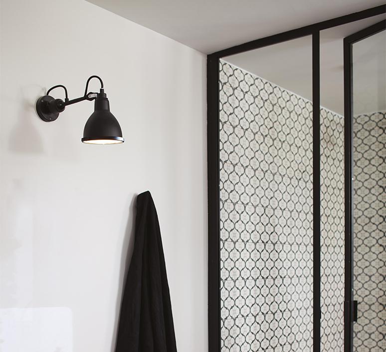 Lampe gras bathroom bernard albin gras applique murale de salle de bain wall light bathroom  dcw editions  304 bathroom bl sat black  design signed nedgis 117222 product