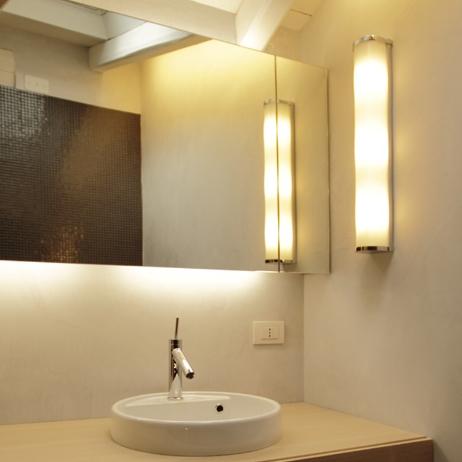 Wall Light Bathroom, Maristella, White, H60cm, L9cm   FONTANA ARTE   Nedgis  Lighting