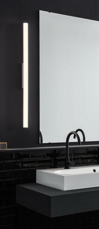 Applique murale de salle de bain mirba 3 0 blanc ip44 led 2700k 1050lm o4cm h90 9cm wever ducre normal