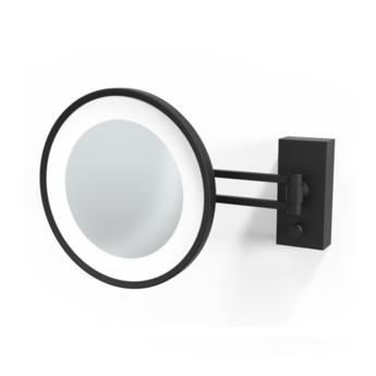 Applique murale de salle de bain miroir cometique noir noir led 4000k 1020lm l29cm h22cm decor walther normal