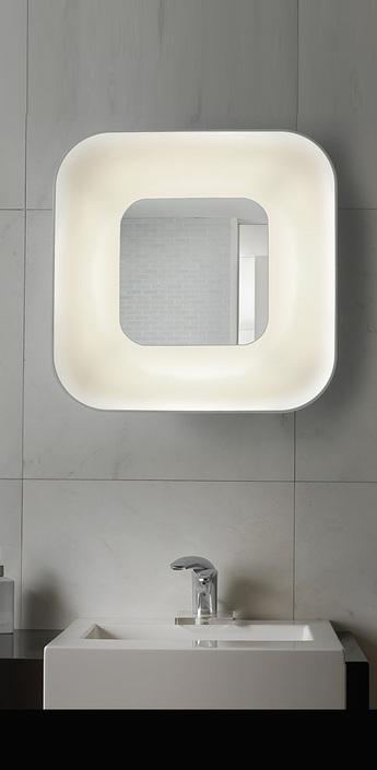 Applique murale de salle de bain parabola blanc miroir h60cm b lux normal