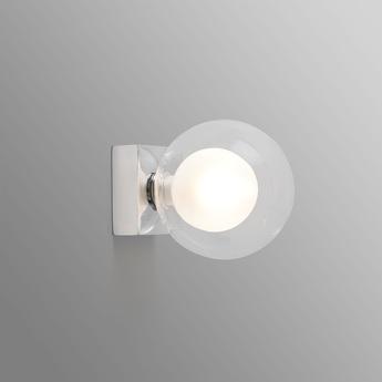Applique murale de salle de bain perla blanc et chrome o12cm h15cm faro normal