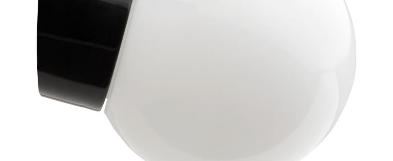 Applique murale de salle de bain pure porcelaine noir o14 5cm h13cm zangra normal