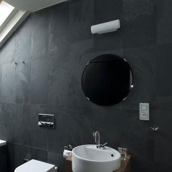 Applique murale de salle de bain verre blanc triplex l28cm h8cm zangra normal