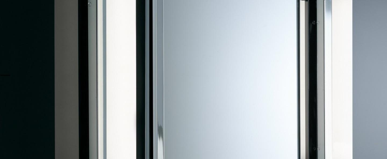 Applique murale de salle de bain vienna 40pl chrome led o10cm h40cm decor walther normal