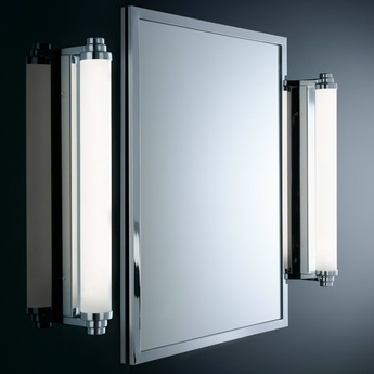 Applique murale de salle de bain vienna 40pl chrome led o10cm h40cm decor walther normal