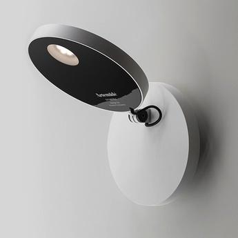 applique murale demetra parete gris anthracite h63 7cm l63 5cm led artemide luminaires. Black Bedroom Furniture Sets. Home Design Ideas