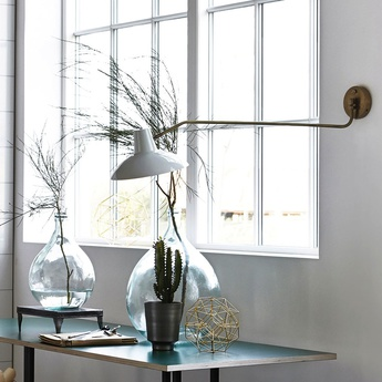 Applique murale desk gris mat o31cm l104cm house doctor normal
