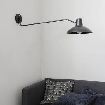Applique murale desk noir laiton o31cm l104cm house doctor normal