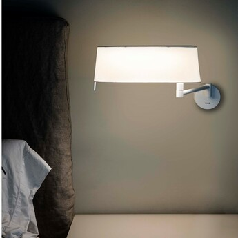 Applique murale desliz blanc led 2700k 800lm l52 5cm h23cm faro normal