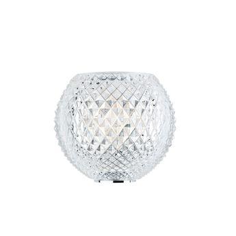 Applique murale diamond d82 transparent l22cm h20cm fabbian normal