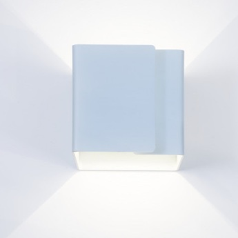 Applique murale ding bleu clair led 2700k 725lm o12cm h12cm dark normal