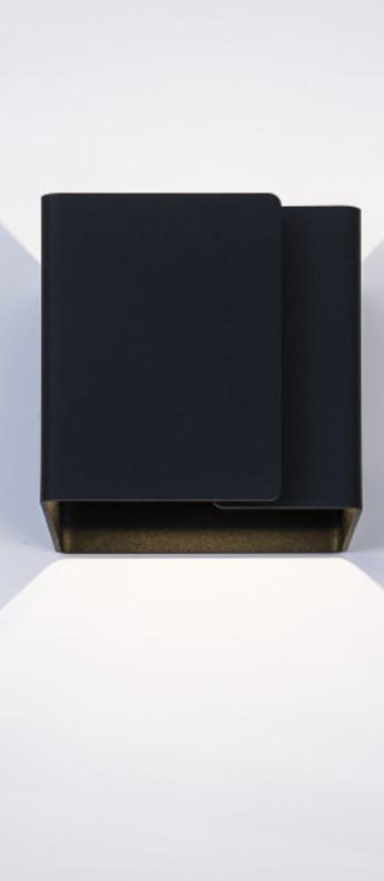 Applique murale ding noir o12cm h12cm dark normal