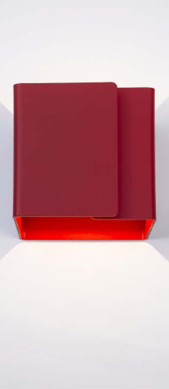 Applique murale ding rouge o12cm h12cm dark normal