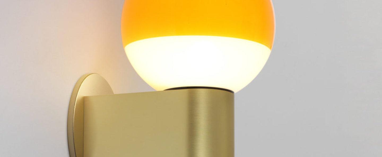 Applique murale dipping light a1 13 ambre laiton led 2700k 544lm l6cm h18cm marset normal