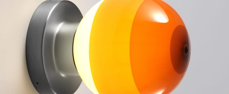 Applique murale dipping light a2 13 ambre graphite led 2700k 544lm l12 5cm h22 2cm marset normal