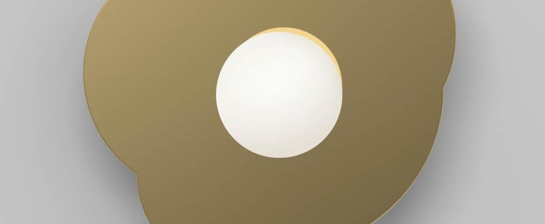 Applique murale disc and sphere 501 laiton l28cm h27cm atelier areti normal