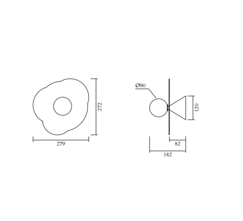 Disc and sphere 501 gwendolyn et guillane kerschbaumer applique murale wall light  atelier areti 501ol w01 br01  design signed nedgis 118525 product