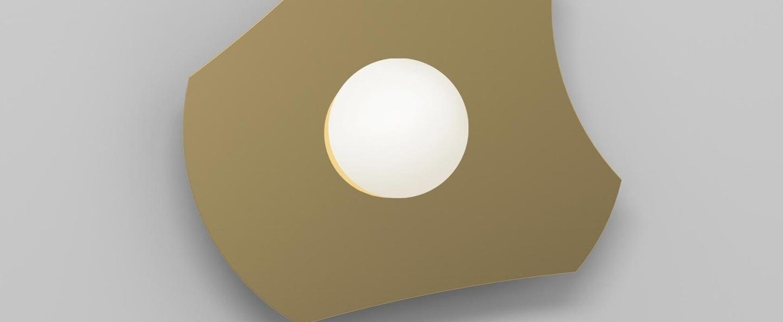 Applique murale disc and sphere 501 laiton l30cm h28cm atelier areti normal