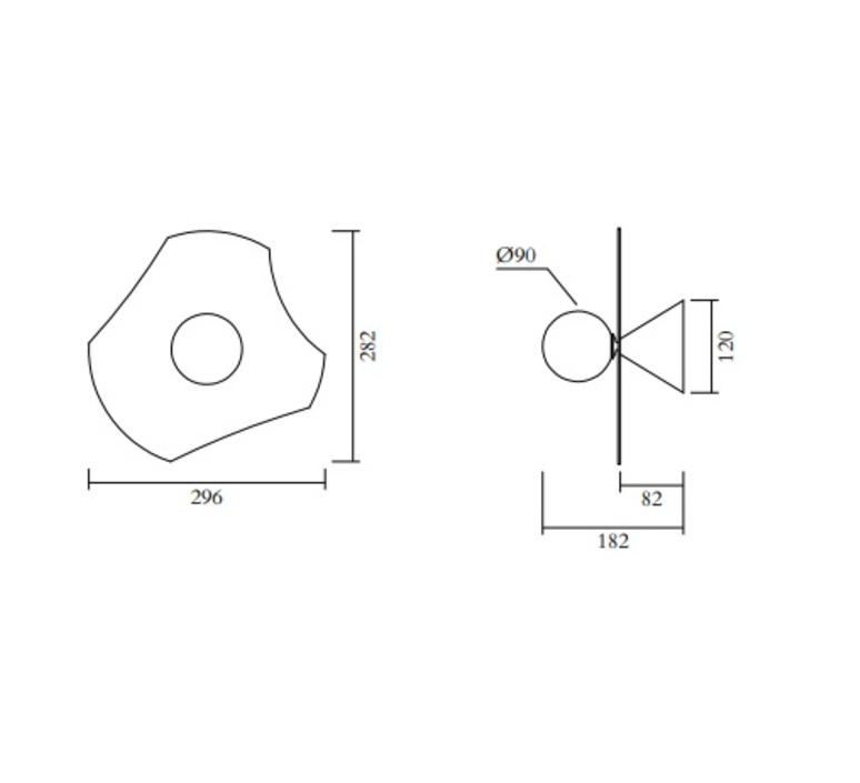 Disc and sphere 501 gwendolyn et guillane kerschbaumer applique murale wall light  atelier areti 501ol w02 me01  design signed nedgis 118530 product