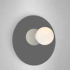 Disc and sphere asymmetrical gwendolyn et guillane kerschbaumer applique murale wall light  areti disc and sphere asymmetrical black chrome  design signed nedgis 64019 thumb