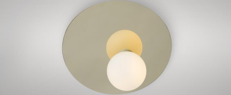 Applique murale disc and sphere asymmetrical laiton o23cm p23cm atelier areti normal