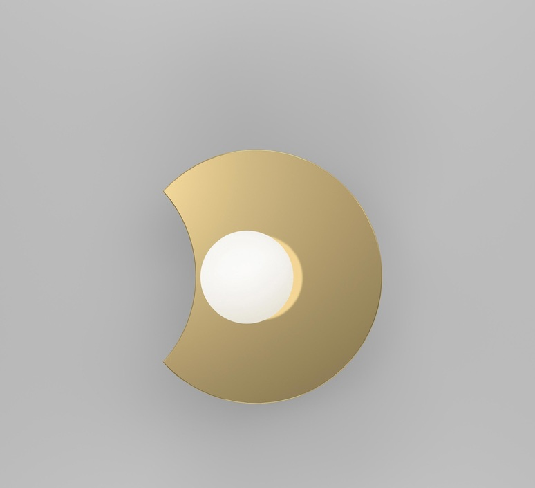 Disc and sphere bent intersecting gwendolyn et guillane kerschbaumer applique murale wall light  atelier areti 518ol w01 br01  design signed nedgis 117315 product