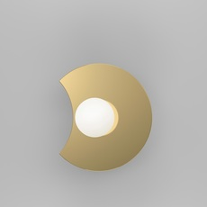 Disc and sphere bent intersecting gwendolyn et guillane kerschbaumer applique murale wall light  atelier areti 518ol w01 br01  design signed nedgis 117315 thumb