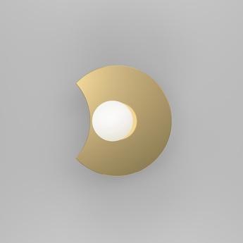 Applique murale disc and sphere bent intersecting laiton o23cm h18 2cm atelier areti normal