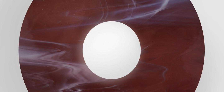 Applique murale disc and sphere glass 514 bordeaux o29cm h18 2cm atelier areti normal