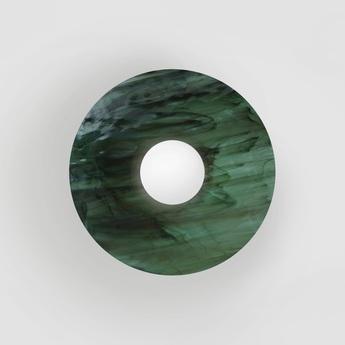 Applique murale disc and sphere glass 514 vert o29cm h18 2cm atelier areti normal