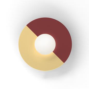 Applique murale disc and sphere rouge l23cm h23cm atelier areti normal