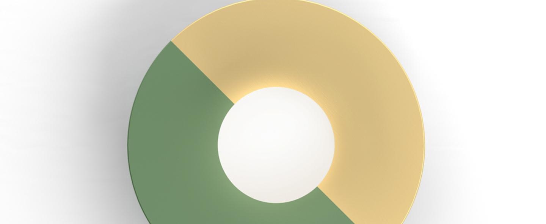 Applique murale disc and sphere vert l23cm h23cm atelier areti normal