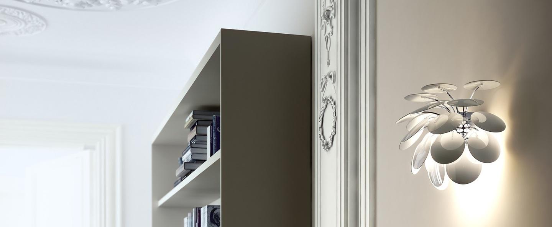 Applique murale discoco blanc h27 5cm marset normal