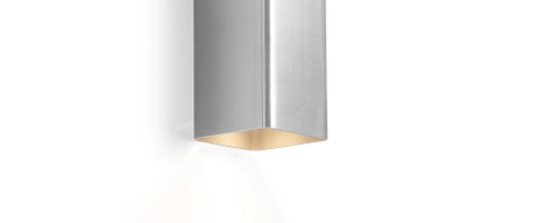 Applique murale docus mini 2 0 aluminium brosse l6 7cm h20cm wever ducre normal