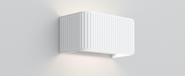Applique murale dresscode w1 blanc mat led 2700k 1250lm l18cm h9cm rotaliana normal