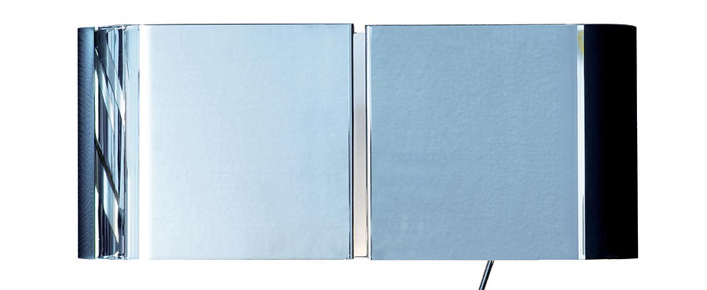Applique murale duo droite chrome l42 2cm h17cm contardi normal