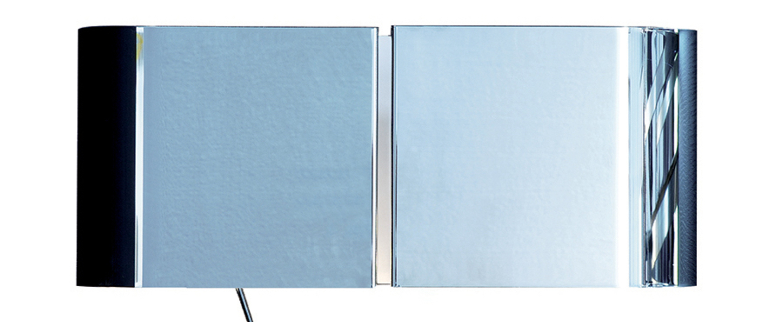 Applique murale duo gauche chrome l42 2cm h17cm contardi normal