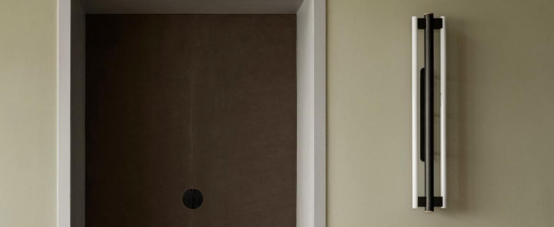 Applique murale eiffel noir et blanc led 2700 990 l20cm h100cm frama normal