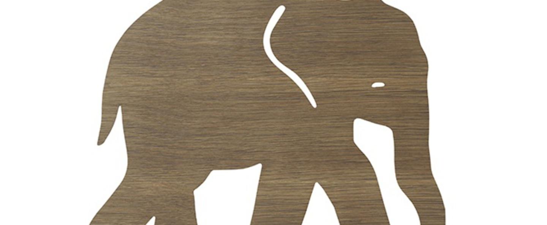 Applique murale elephant lamp chene l35 4cm h26cm ferm living normal