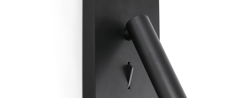 Applique murale en saillie suau noir led 140lm 3000k h17cm l9 5cm faro normal