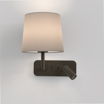 Applique murale et liseuse side by side bronze mocha led 2700k 149lm e27 l20cm h26 5cm astro normal
