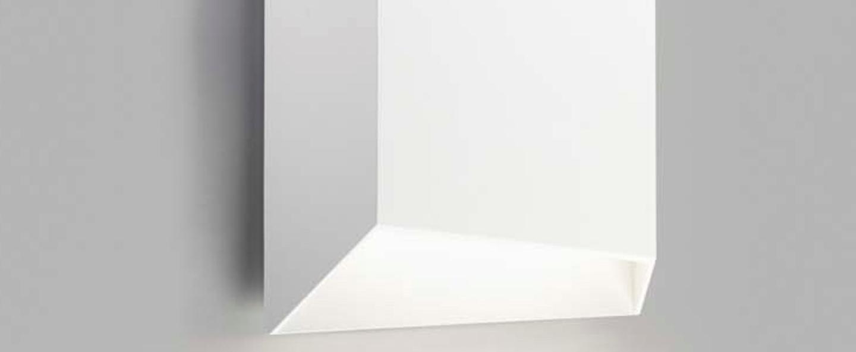Applique murale facet down w1 blanc ip54 led 3000k 300lm o16cm h16cm light point normal